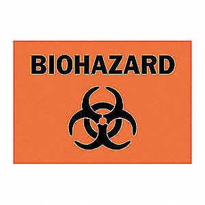 SIGN BIOHAZARD 10X14