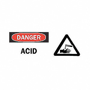 SIGN DANGER W/GRAPHIC 7 X 17