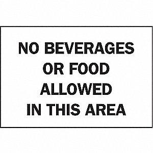 SIGN NO BEVERAGES OR FOOD ALLOWED..