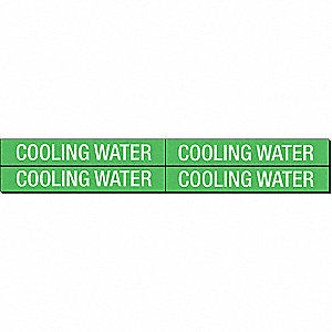 PIPEMARKER 79348 COOLING WATER