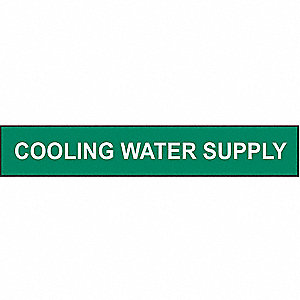 PIPEMARKER COOLING WATER SUPPLY