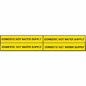 PIPEMARKER 90225 DOM. HOT WATER SUP