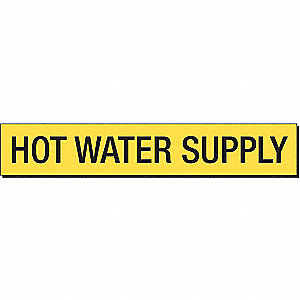 PIPEMARKER 91996 HOT WATER SUPPLY