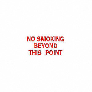 SIGN NO SMOKING N/H 10X14
