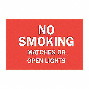 SIGN NO SMOKING ETC