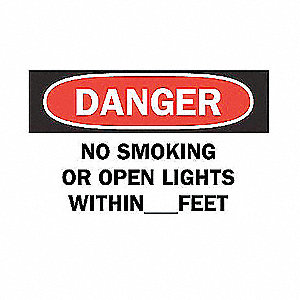 SIGN NO SMOKING OR OPEN LIGHTS...