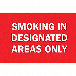 SIGN NO SMOKING N/H 10X14