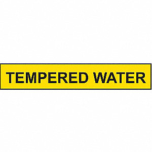PIPEMARKER 36214 TEMPERED WATER