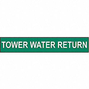 PIPEMARKER 91840 TOWER WATER RETURN
