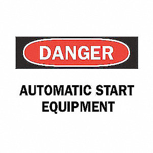 SIGN AUTOMATIC START EQUIPMENT