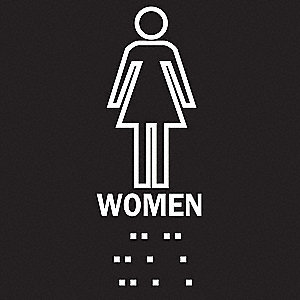 SIGN WOMEN PLASTIC BRAILLE 8X8