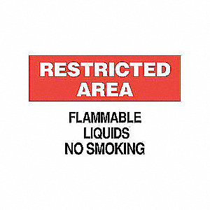 SIGN 70631 RESTRICTED AREA 10X14