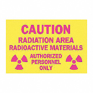 SIGN RADIATION 7X10