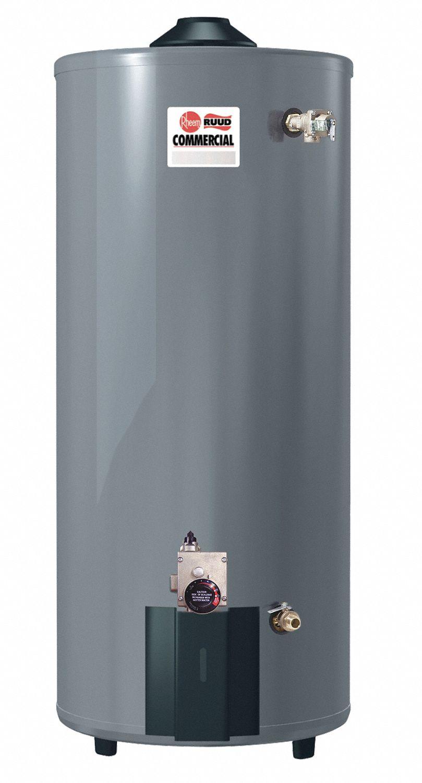 RHEEM-RUUD Commercial Gas Water Heater, 100.0 gal. Tank Capacity ...