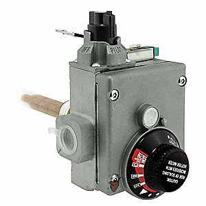 Gas Control Thermostat, Metal, For Use With 1PLV7, 3WA65