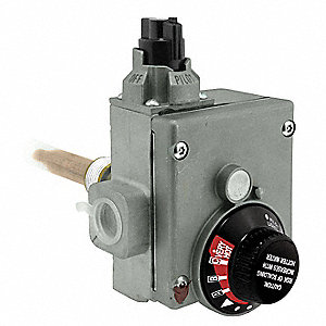 Gas Control Thermostat, Metal, For Use With 2LAD2