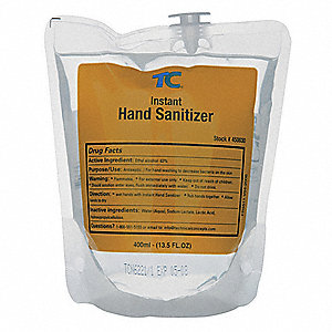 400mL Hand Sanitizer Refill Bag, 12 PK