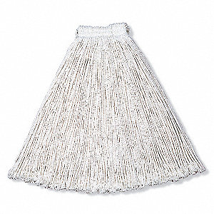 Side Gate Rayon String Wet Mop Head, White