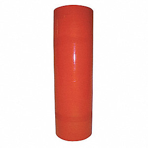 "18"" x 1500 ft. Linear Low Density Polyethylene Hand Stretch Wrap, 80 Gauge, Orange, 1EA"