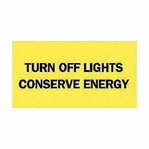SIGN TURN OFF LIGHT