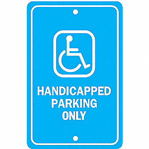 SIGN HANDICAP 18X12 ALUMINUM