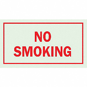SIGN NO SMOKING 7X10 PHOSPH