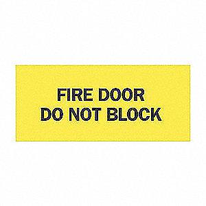 SIGN DOOR N/H 3 1/2 X 5