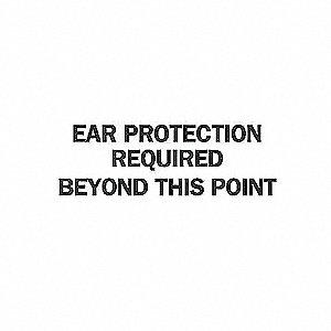 SIGN EAR PROTEC. N/H 7X10