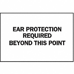 SIGN EAR PROTEC. N/H 10X14