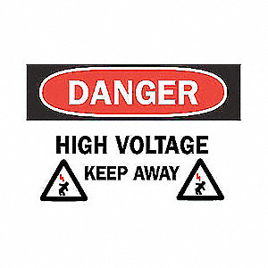 SIGN DANGER W/GRAPHIC 7X10