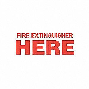 SIGN FIRE N/H 3 1/2 X 10