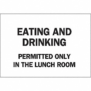 SIGN EATING AND DRINKING...
