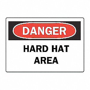 SIGN HARD HAT AREA