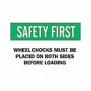 SIGN SAFETY FIRST 10X14