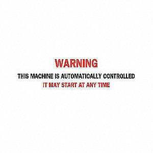 SIGN MACHINE/OPER.N/H 3  X 10