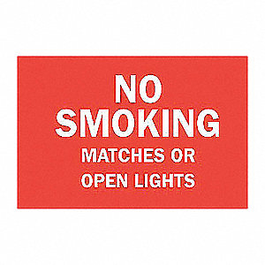 SIGN NO SMOKING N/H 7X10