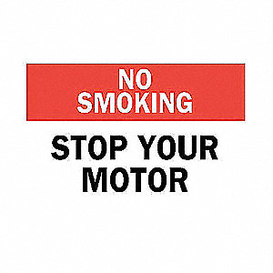 SIGN NO SMOKING 10X14