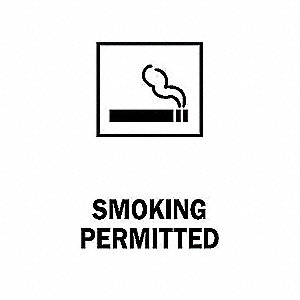 SIGN NO SMOKING W/PICTO 14X10