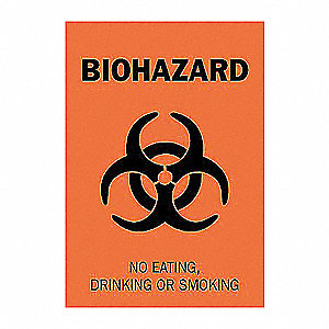 SIGN BIOHAZARD 14X10