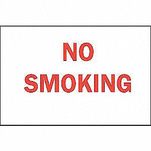 SIGN NO SMOKING N/H 3 1/2 X 5