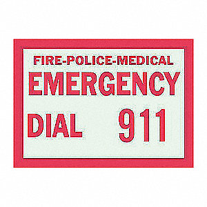 SIGN POLYESTER B324 7X10IN