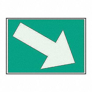 SIGN B347 PLASTIC 7INW X 10INL