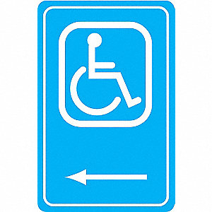 SIGN HANDICAPPED 18X12