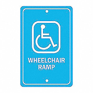 SIGN WHEELCHAIR RAMP