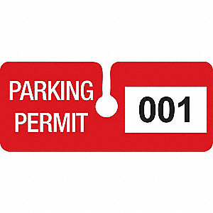 PARKING PRMT TAGE 001-100 4-3/4X2