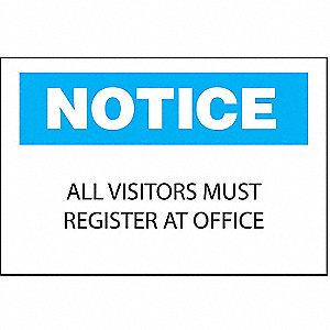 SIGN NOTICE 10X14 BLUE+BLK/WH