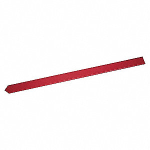 TAPE BLANK RED STAKE W/POINTS