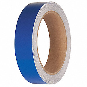 "Reflective Marking Tape, Solid, Continuous Roll, 2"" Width, 1 EA"