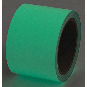 "Glow-in-the-Dark Marking Tape, Solid, Roll, 1"" x 15 ft., 1 EA"