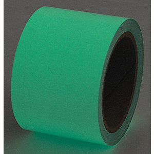 "Glow-in-the-Dark Marking Tape, Solid, Continuous Roll, 3"" Width, 1 EA"